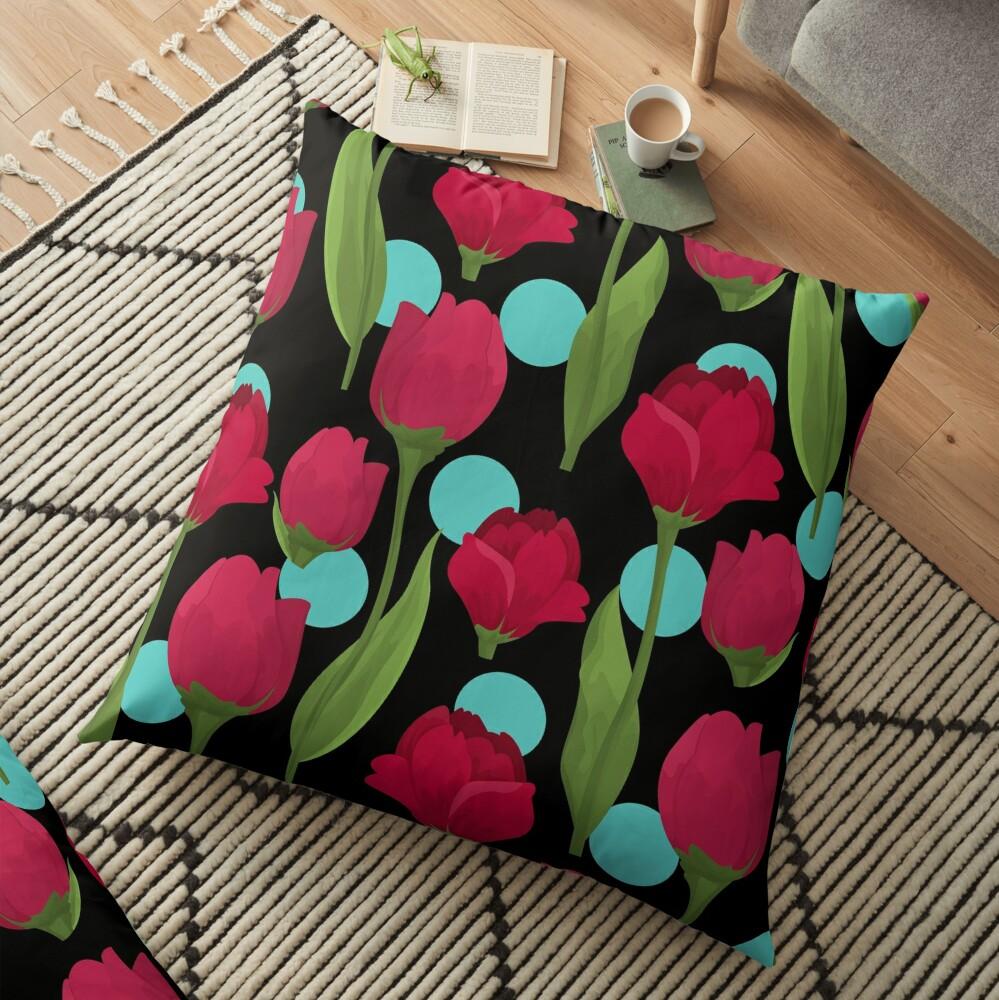 Polka Love Floor Pillow