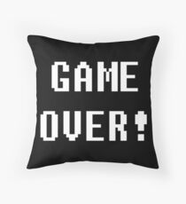 Game Over! Undertale Text Throw Pillow