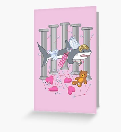 The Cupid Shark Greeting Card