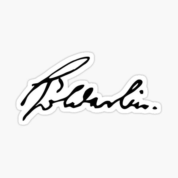 Friedrich Hölderlin sticker signature Sticker