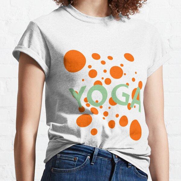yoga meditation graphic font Classic T-Shirt