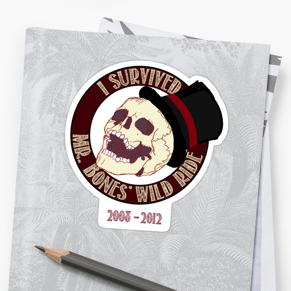Quot Mr Bones Wild Ride Quot Stickers By Twosixninelabs Redbubble