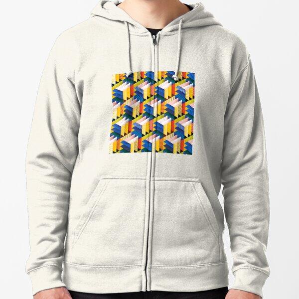 Multi patterned design  Zipped Hoodie
