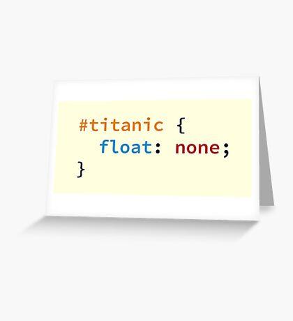 #titanic Greeting Card