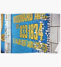 Detroit Painted Billboard Poster