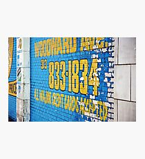 Detroit Painted Billboard Photographic Print
