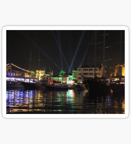 Marmaris Marina Nightscape Sticker