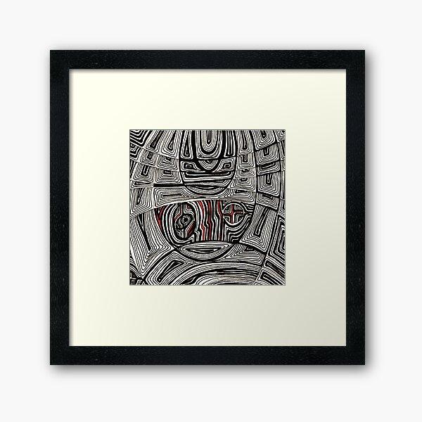 Zentangle III Gerahmter Kunstdruck