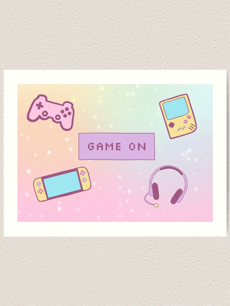 Alternate view of Game On Art Print