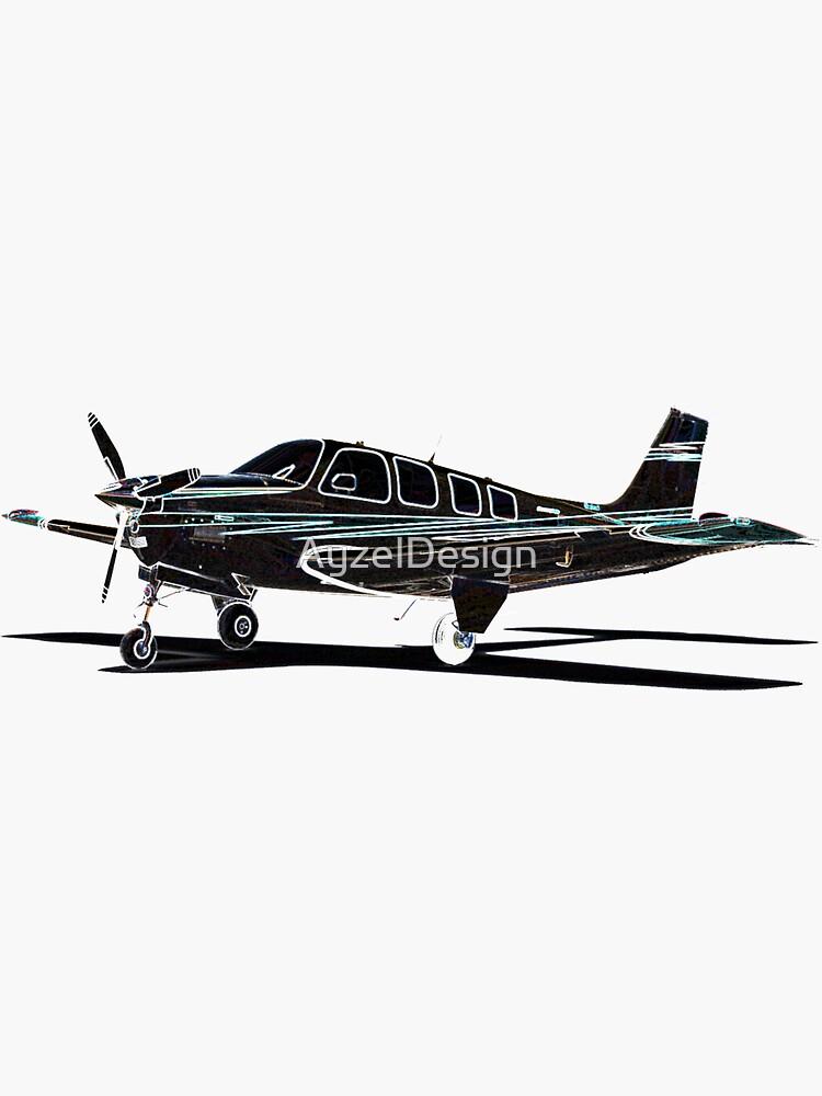 Beechcraft Bonanza Digital Art by AyzelDesign