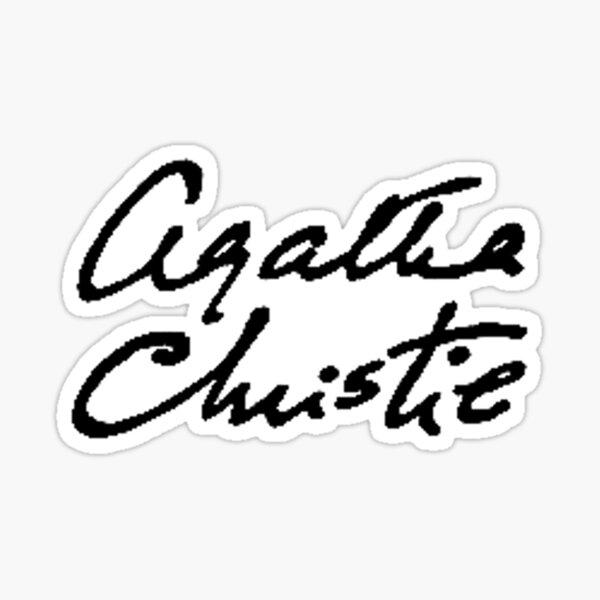 Agatha Christie signature Sticker