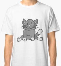 seated sweet cute kitten fluffy fur Classic T-Shirt