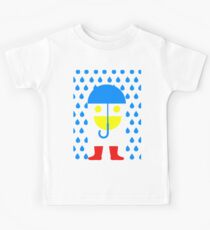 Face Goes for Walk in Rain Kids Clothes