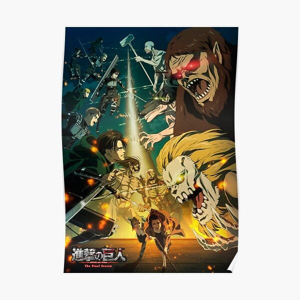 Temporada final 4K Shingeki no Kyojin (Anime Attack on Titan) Póster