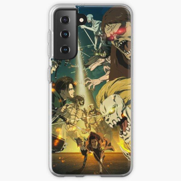 Saison finale 4K Shingeki no Kyojin (attaque sur Titan Anime) Coque souple Samsung Galaxy