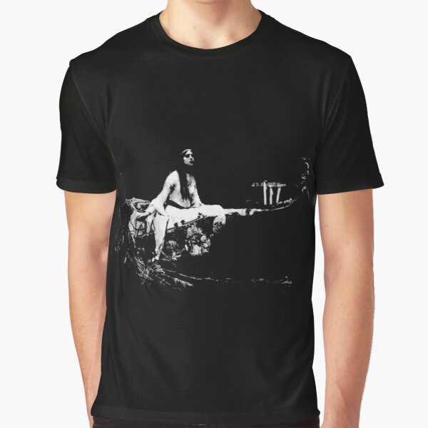 Black and White Ghostly Lady of Shalott Graphic T-Shirt