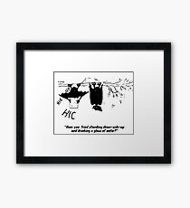 Zoo Humour - Cartoon 0012 Framed Print