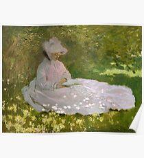 Claude Monet - Springtime (1872)  Impressionism Poster