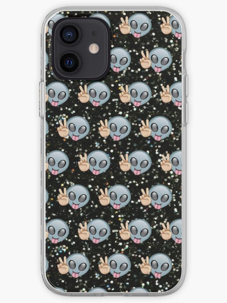 Alien Emoji Paix Motif | Coque iPhone