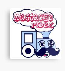 Mustache Rides Metal Print
