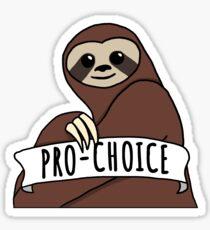 "Feminist Sloth ""Pro-Choice"" Sticker"