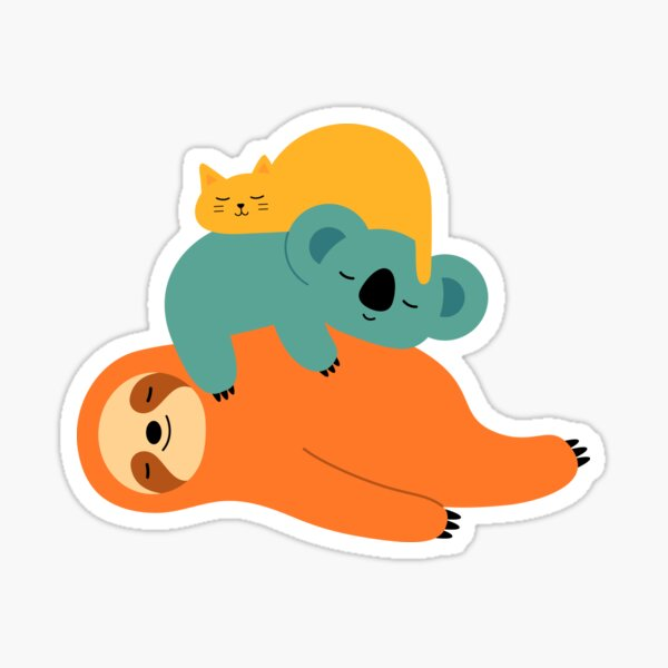 Being Lazy Sticker