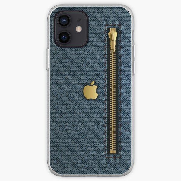 Blue denim with zipper design iPhone Case, iPhone Cover iPhone Soft Case