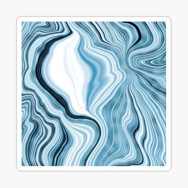 Blue liquid marble pattern Sticker