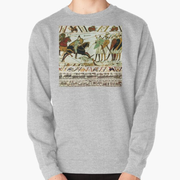 THE BAYEUX TAPESTRY ,BATTLE OF HASTINGS ,NORMAN KNIGHTS HORSEBACK Pullover Sweatshirt