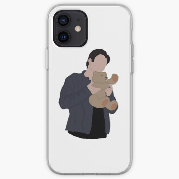 damon salvatore with teddy bear iPhone Soft Case