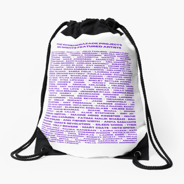 The Scheherazade Projects Featured Artists Drawstring Bag