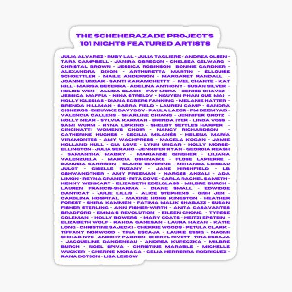 The Scheherazade Projects Featured Artists Sticker