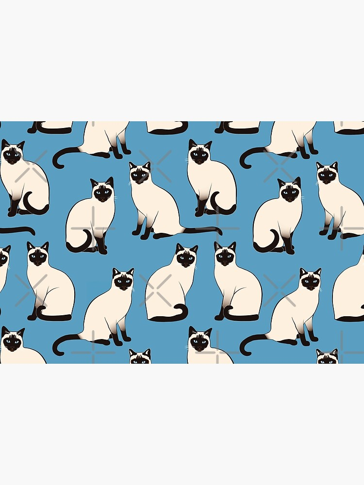 Siamese Cats sparse on blue by nadyanadya