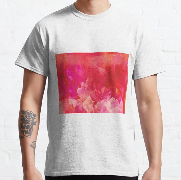 Pink Blooms in Abstract Classic T-Shirt
