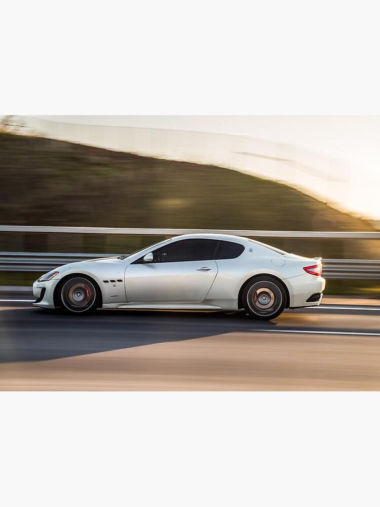 Masstering sports coupé in grey on the motorway by liesjes