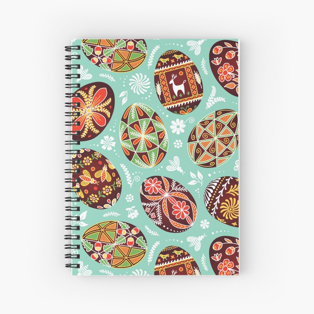 Pysanky Spiral Notebook