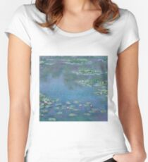Claude Monet - Water Lilies (1906)  Impressionism Women's Fitted Scoop T-Shirt