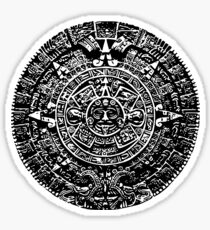 Mexican Mayan Calender the Aztec Sun Stone Sticker