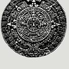 Mexican Mayan Calender the Aztec Sun Stone by colourfreestyle