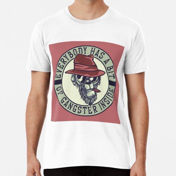 Gangster Monkey Smoking Cigar Premium T-Shirt