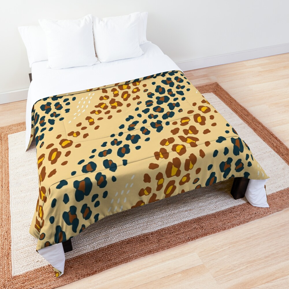 Bohemian Leopard Comforter