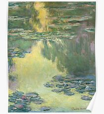 Claude Monet - Waterlilies (1907)  Impressionism Poster