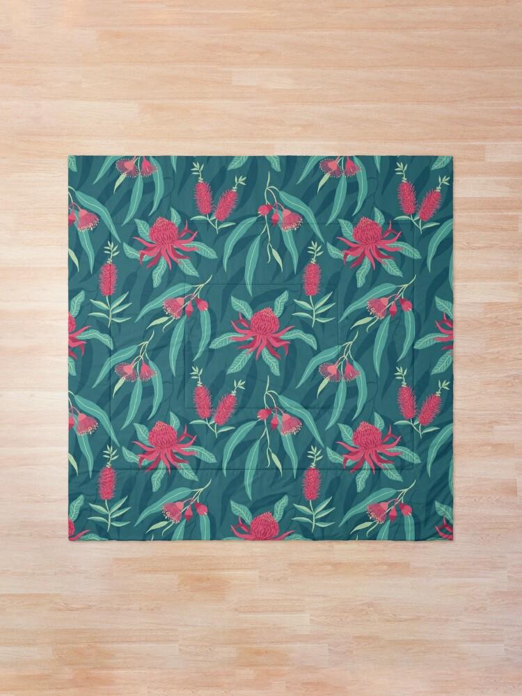 Alternate view of Australian Flora Comforter