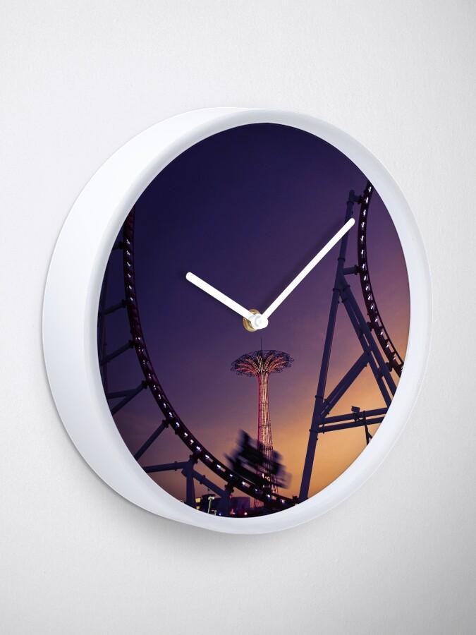 Alternate view of Dusky Amusements  Clock