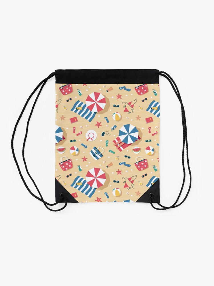 Alternate view of Summer Beach Drawstring Bag