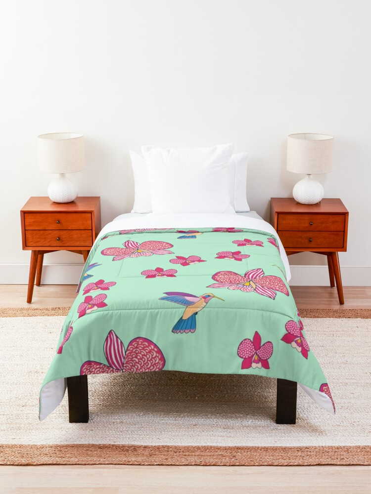 Alternate view of Bohemian Orchids Comforter