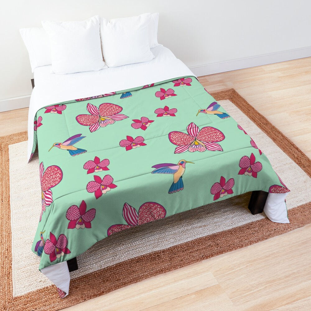 Bohemian Orchids Comforter