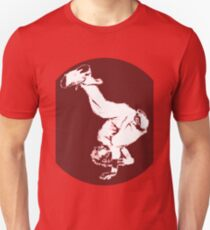 Breakdancer in red Unisex T-Shirt