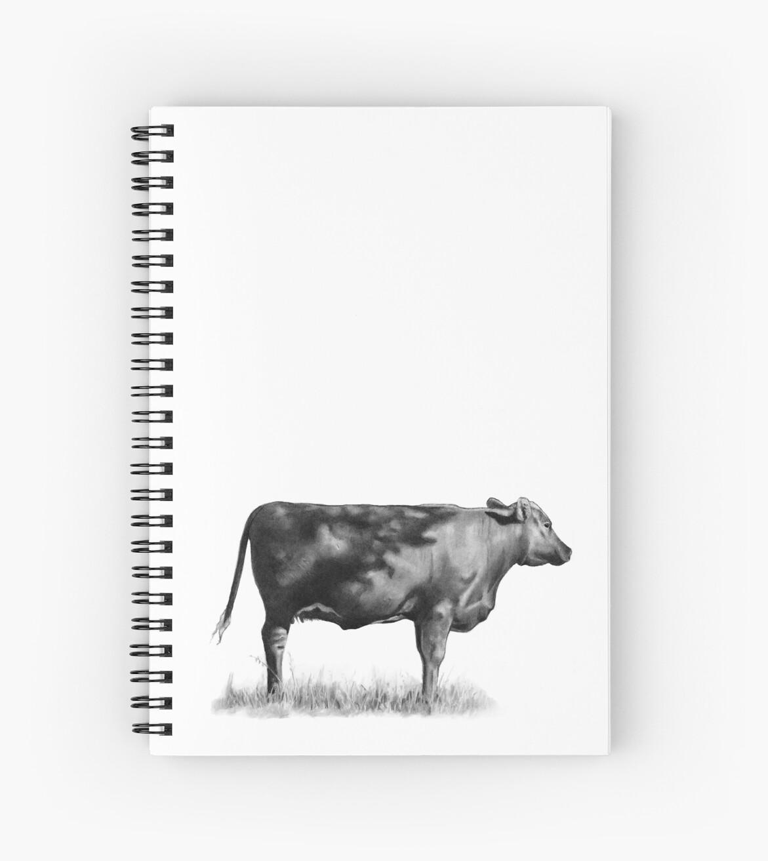 Cow In Sunshine Pencil Drawing Of Beef By Joyce Geleynse