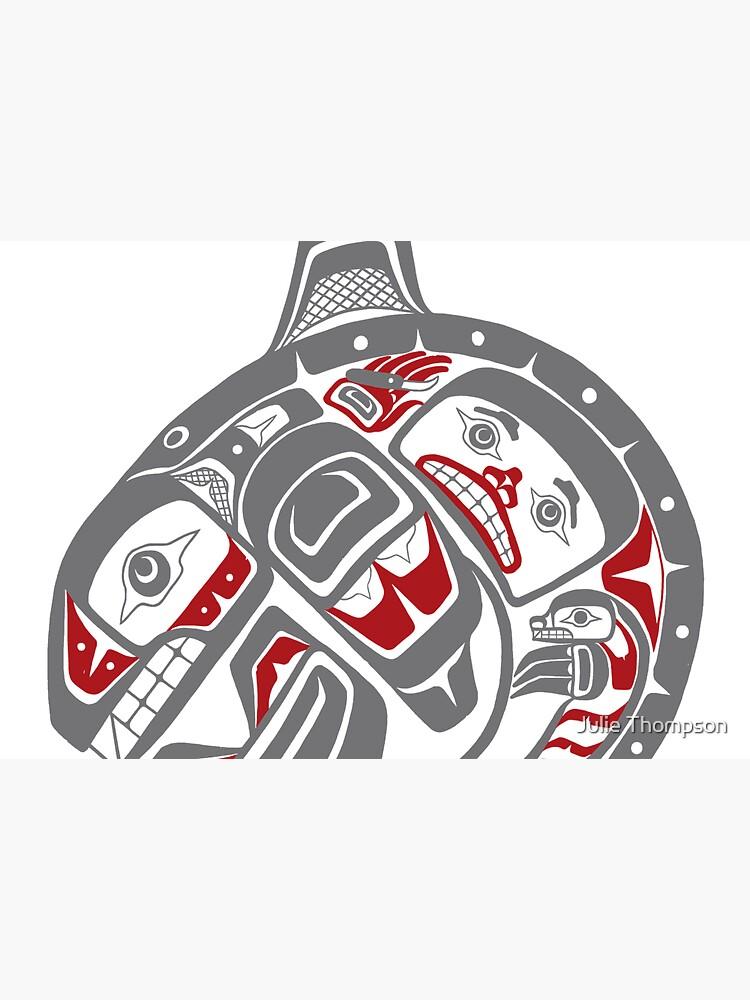 BLACKFISH - PNW native, Tlingit style orca killer whale GRAY by featherladyJT
